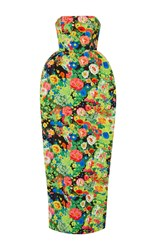 Rosie Assoulin Artichoke Hearts Strapless Tea Length Gown Print