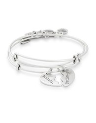 Alex And Ani Set Of Two Best Friends Charm Energy Bangles Silver