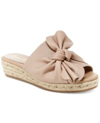 Nanette Lepore By Dominik Knotted Wedge Flats Women's Shoes Dusty Pink