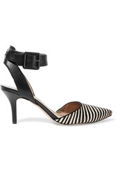 Sam Edelman Okala Striped Calf Hair And Leather Pumps Black