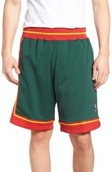 Mitchell And Ness Men's Authentic Seattle Supersonics Mesh Warm Up Shorts