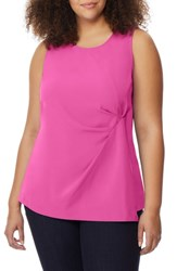Rebel Wilson X Angels Plus Size Pleated Panel Tank Rose Violet