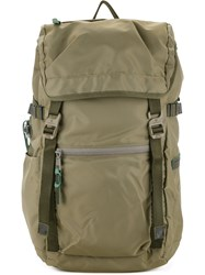 As2ov Fold Over Top Backpack Men Nylon One Size Green