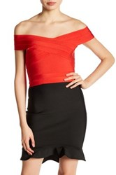 Wow Couture Bandage Crop Tank Red