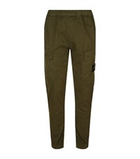 Stone Island Logo Badge Cargo Trouser Male Khaki