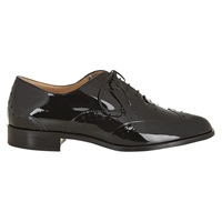 Hobbs Harris Flat Lace Up Brogues Black Patent