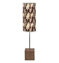Jefdesigns Tile 2 Cuboid Table Lamp Light Brown