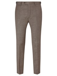 John Lewis And Co. Cadogan Semi Plain Tailored Suit Trousers Brown
