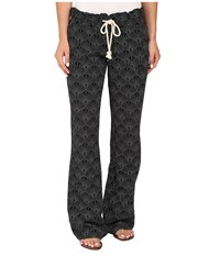 Roxy Oceanside Printed Pants In The Breeze True Black Women's Casual Pants