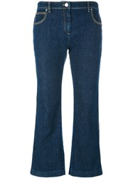 Kenzo Cropped Flare Jeans Blue