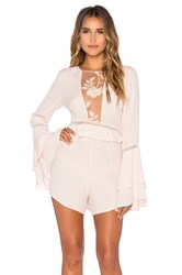 For Love And Lemons Emelia Romper Pink