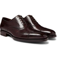 Tom Ford Wessex Burnished Leather Brogues Brown