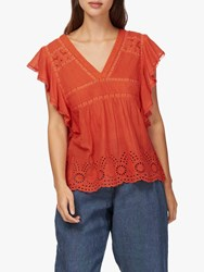 Brora Embroidered Pintuck Shell Top Spice