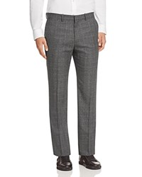 Theory Houndstooth Plaid Gole Slim Fit Trousers 100 Bloomingdale's Exclusive Grey