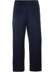 Derek Lam 10 Crosby Cropped Satin Trousers Blue