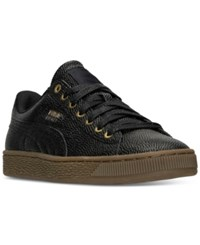 Puma Men's Basket Classic Casual Sneakers From Finish Line Puma Black Gold