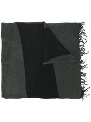 Lost And Found Ria Dunn Fringed Scarf Men Linen Flax Nylon Mohair Wool S Grey