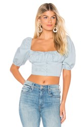 Free People Eloise Blouse Baby Blue