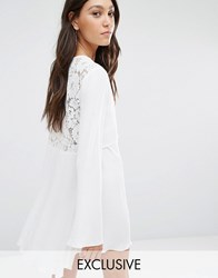 Flynn Skye London Lace Back Mini Dress White