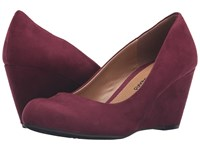 Chinese Laundry Dl Not Me Merlot Women's Wedge Shoes Red
