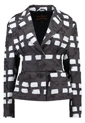 Vivienne Westwood Anglomania Ringstead Blazer Black White Mottled Black