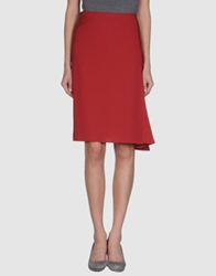 Caractere Knee Length Skirts Brick Red