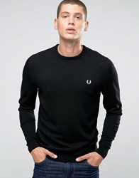 Fred Perry Jumpers With Crew Neck In Black Black