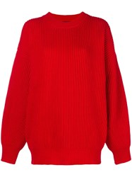 Department 5 Oversized Knit Sweater Red