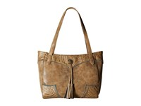 American West Guns And Roses Secret Tote Ecru Sage Tote Handbags Brown