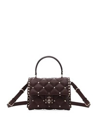 Valentino Garavani Candystud Quilted Leather Top Handle Bag Wine
