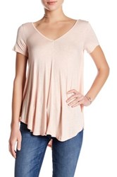 Lush Double V Swing Tee Pink