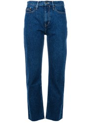 Ck Calvin Klein Jeans High Waisted Jeans Blue