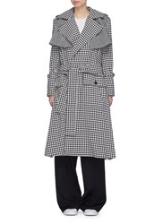 Maggie Marilyn 'Be Strong And Courageous' Herringbone Panel Check Trench Coat Multi Colour