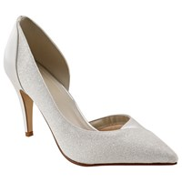 Rainbow Club Roux Pointed Toe Court Shoes Ivory