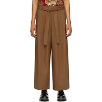 Naked And Famous Denim Ssense Exclusive Brown Wide Trousers
