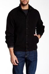 Weatherproof Faux Fur Lined Full Zip Sweater Black