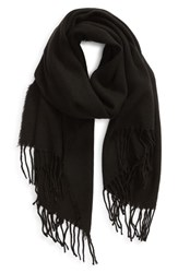Trouve Solid Scarf Black