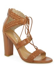 Daniel Palm Springs Woven Sandals Brown