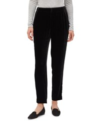 Lafayette 148 New York Velvet Track Pants With Piping Black