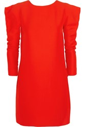Vionnet Cutout Crepe Mini Dress Red