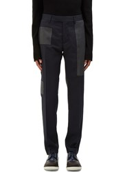 Oamc Patchwork Tailored Pants Navy