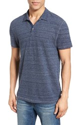 John Varvatos Men's Star Usa Cotton Polo Stream Blue