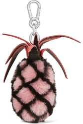 Autumn Cph Stingray Trimmed Shearling Keychain Pink