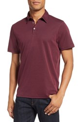 Zachary Prell Caldwell Pique Trim Fit Polo Burgundy