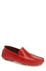 Donald J Pliner Men's Halden Driving Moccasin Red