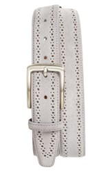 Nordstrom Men's Big And Tall Men's Shop Perforated Suede Belt Grey