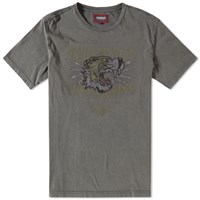 Barbour International X Triumph Lapping Tee Grey