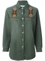 Sandrine Rose Embroidered Shirt Green