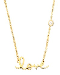 Shy By Sydney Evan Love Pendant Bezel Diamond Necklace Gold