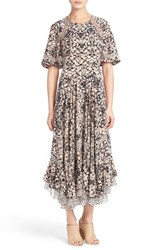 Women's Rebecca Taylor Flutter Sleeve Maxi Dress